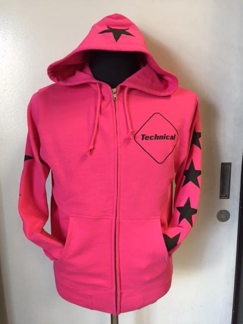 ジップパーカー ピンク 1